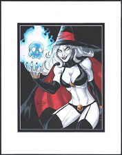 Sexy Lady Death Chaos Purgatori Art by Scott Dalrymple Matted SIGNED 2015