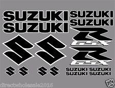 Full Entire Kit of Suzuki GSX-R Decals 16 Full Color Set Black