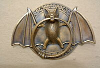 "heavy Door Knocker BAT ring old heavy SOLID cast BRASS vintage antique style 7""B"
