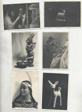 SET OF SIX PHOTOS OF NATIVE AMERICAN BARBIE, STATUES,   WEDDING PHOTO