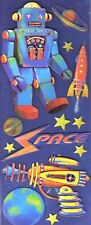 K & Company SPACE ROCKET ROBOT Light Ideas LIGHT UP (13) LARGE 3D Stickers  New