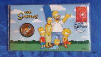 Simpsons Familie Perth Mint Tuvalu 1$ Münze + Briefmarke OVP - 2019