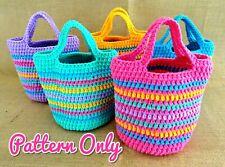 DIY CROCHET BAG PATTERN Girls Tote Totebag Purse Top Handle Paper Patterns 0135
