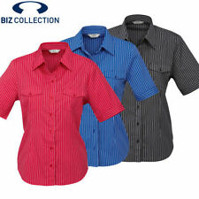 Polyester Career Machine Washable Striped Tops for Women