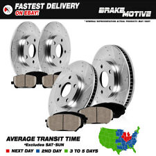 Front+Rear Drill/Slot Brake Rotors Ceramic Pads Fusion Lincoln MKZ Mazda 6 Milan