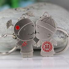 Pobaby Wedding Ceremony Couple Keychain Fashion Key Chain Ring Keyring Keyfob