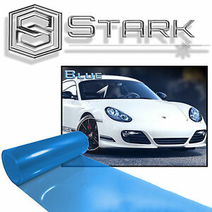 "12"" x 48"" Gloss Blue Tint Headlights Tail Lights Fog Lights Vinyl Wrap Film (E)"