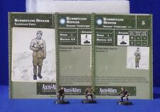 Axis & Allies Miniatures SET II 3 Kuomintang Officers & Stat Cards CH5 #2/45 G