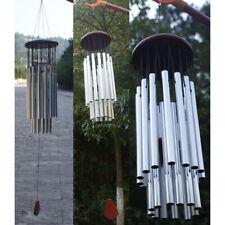 Windspiel 4 Metall Klangröhren Schmetterling Feng Shui Klangspiel Haus Deko DIY