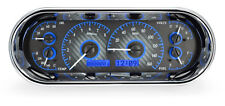 Dakota Digital Universal Oval Analog Dash Gauges Kit Carbon Fiber Blue VHX-1018