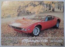 DE TOMASO MANGUSTA orig c1969 Sales Brochure Prospekt Depliant - I/GB/D/F