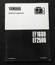 Genuine Yamaha Ef1600 Ef2500 Portable Generator Service Manual Very Good Shape