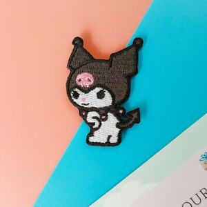 Kuromi iron on patches 😈patch headband bag hoodie plush jacket stickers ears