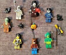 LOT OF 7 LEGO Minifigures Monster Fighters Spider Lady Frankenstein - Halloween