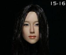 KUMIK 1/6 Female Head 15-16 Sculpt 2in. Carved Model Toy F Action Figure Model