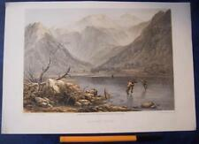 Brothers Water - Lake District Antique Print Published 1859 By Day & Son