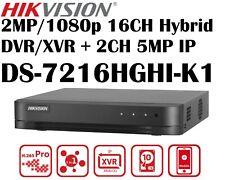 Hikvision TurboHD 2MP 16CH Hybrid DVR/XVR DS-7216HGHI-K1 + 2CH 5MP IP 1-SATA