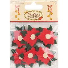 Rojo Fieltro Sizzix Poinsettia Die Cut Kit una completa flores y hojas jardín Bloom