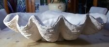 Giant Clam Shell Sculpture Pearl Ornament Bowl Handmade Gift Home, Patio, Garden