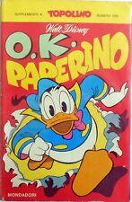 SUPPLEMENTO AD ALMANACCO TOPOLINO N.1052 0,K, PAPERINO 1976