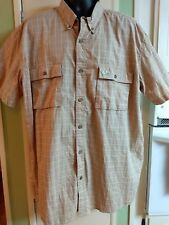 MOSSY OAK lt. Brown short Sleeve Button Front  Casual Shirt Mens  2XL. Quickship