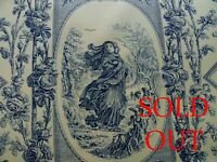 SOLD OUT SCALAMANDRE FOUR SEASONS GODDESS TOILE TRADITIONAL BLUE YELLOW MSRP$152