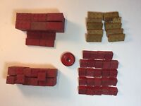 Halsam AMERICAN Bricks Lot Of 160 Wooden Pieces