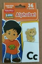 Fisher Price Little People Flash Learning Cards - Alphabet 36 Cards New