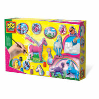 SES CREATIVE Children's Fantasy Horses Casting and Painting Set, 5 to 12 Years