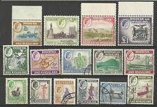RHODESIA AND NYASALAND QE11 1959-62 SET OF 15 USED