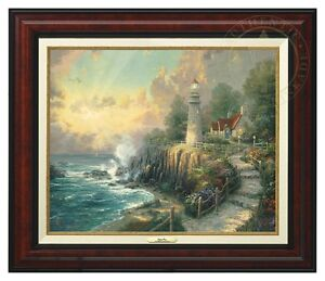 Thomas Kinkade Light of Peace 16 x 20 Canvas Classic (Espresso Frame)