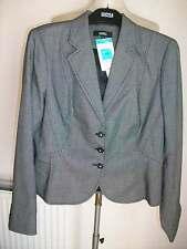 Black Mix Jacket with Stretch, Machine Washable, Size 14, M&S, BNWT  £45