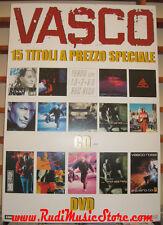 CARTONATO VASCO ROSSI 15 titoli a prezzo speciale PROMO poster NO cd dvd vhs lp