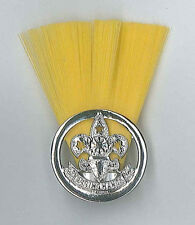 SCOUTS OF PHILIPPINE - SCOUT INSTRUCTOR (YELLOW COLOUR) Metal Plume / Hat Patch