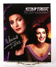Marina Sirtis signed 8x10 photo w/coa Star Trek the Next Generation