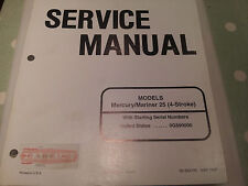 Mercury/Mariner Outboards 25 4 Stroke Service Manual 90-854785