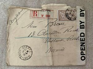 Envelope from WWI 1916 with stamp and wax seal