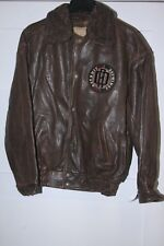 Retro DETROIT RED WINGS G-III/Carl Banks collar changeable LEATHER Jacket NEW XL