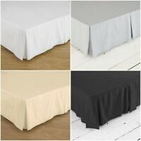 """FITTED VALANCE SHEET 26/"""" EXTRA DEEP BEDDING PLEATED BOX SINGLE DOUBLE KING SUPER"""