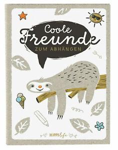 Freundebuch Kindergarten Schule Faultier Happylife Freunde Poesiealbum Goldbuch