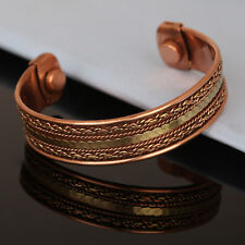 Bracelet Women Cuff Link Copper Magnetic Bio Pain Therapy Healing Bangle