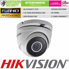 HIKVISION 2MP 1080P HD-TVI TURBO 2.8-12MM MOTORIZED TURRET CCTV SECURITY CAMERA