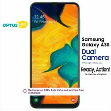 "Samsung Optus Prepaid Galaxy A30 2019 3GB/32GB (Black) 6.4""HD+ Dual Rear Cam"