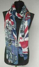 Women/'s Chiffon Scarves Union Jack Royal Crown Design Satin Silky Soft Shawls