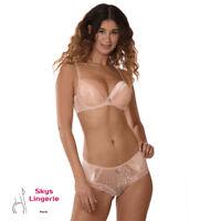 Pamia, ensemble Soutien-gorge Push-up et boxer 100C / XL Skys lingerie