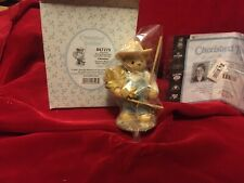 Enesco Cherished Teddies Chester Harvest Everything You Can Out of Life Box