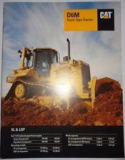 Caterpillar Dealers D6M XL & LGP Track Type Crawler Tractor Sales Brochure cat