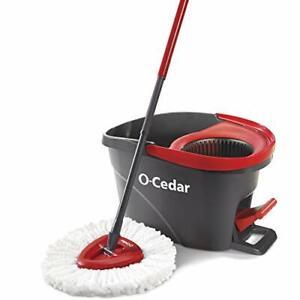 O-Cedar EasyWring Microfiber Spin Mop, Bucket Floor Cleaning System