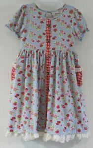 EUC Mustard Pie Strawberry Fields Linley Dress Size 6