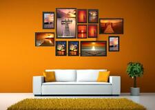 Black Multi Picture Photo Frame 12 Pieces Set Wall Frames Set Collage Family New